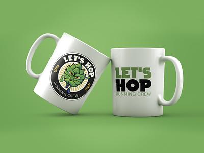 Let`s Hop - Running Crew running cerveja beer logotype logo illustration design branding brand
