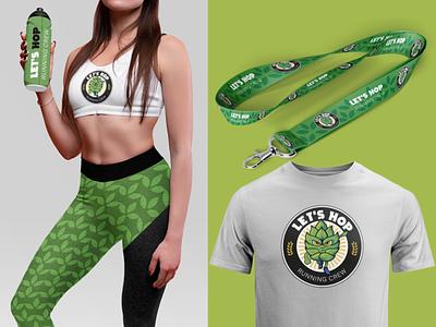 Let`s Hop - Running Crew running run cerveja beer logotype logo illustration design branding brand