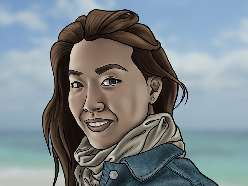 La Jenny illustration stylised stylized photoshop portrait painting portrait art digital painting digital art
