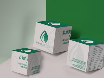 Embalagem desenhada para Farmacia Vitae
