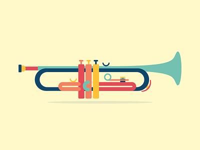 Trumpet icon south dakota sioux falls jazz trumpet