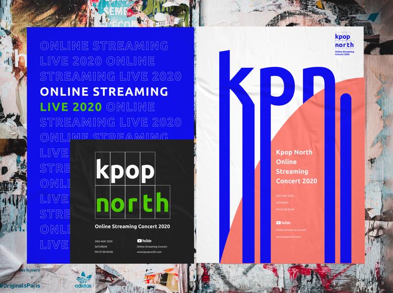 Kpop north 2020 Branding Poster music concert logo branding poster kpop