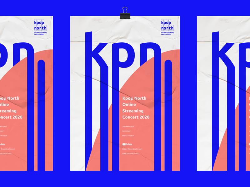 Kpop north 2020 Poster concert kpop graphic branding poster