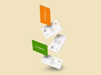 Instacart Branding Logo Design instacart grocery businesscard logo branding