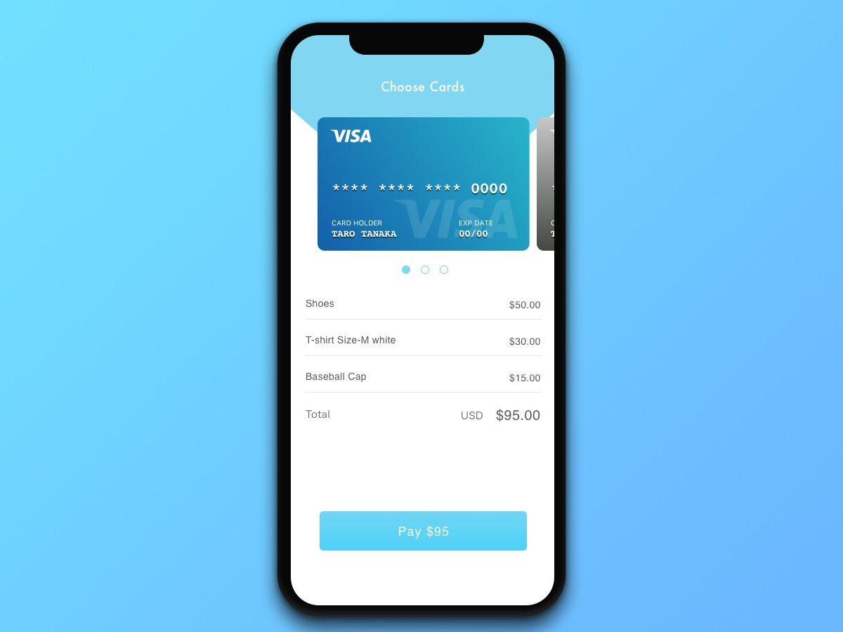 #002 Credit Card Checkout | Daily UI daily ui
