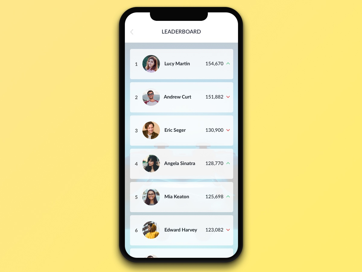 #019 Leaderboard | Daily UI daily ui