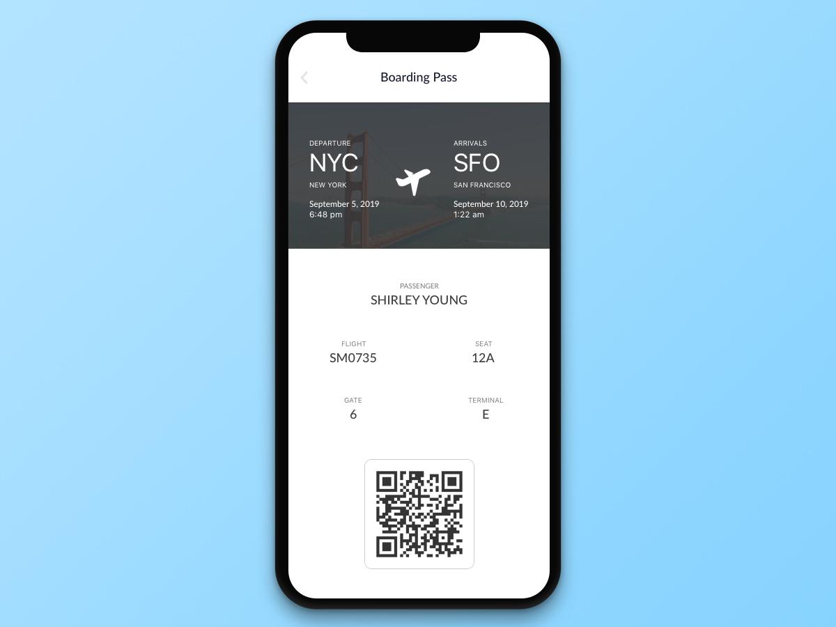 #024 Boarding Pass | Daily UI daily ui