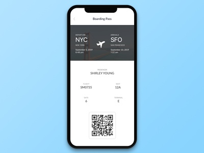 #024 Boarding Pass | Daily UI