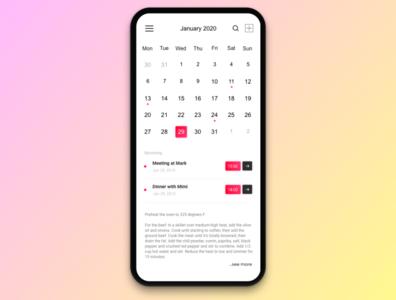 #038 Calendar   Daily UI