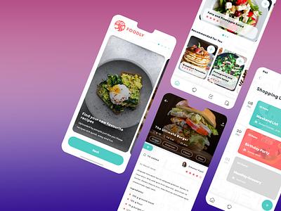 Foodly recipe app recipe design app concept ux ui ios