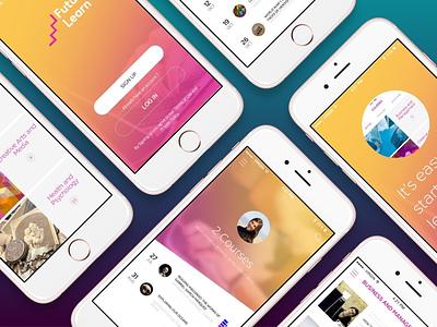 Future Learn App Concept learning ux ui ios app
