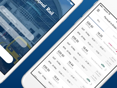 National Rail Re-Design redesign android mobile design ios
