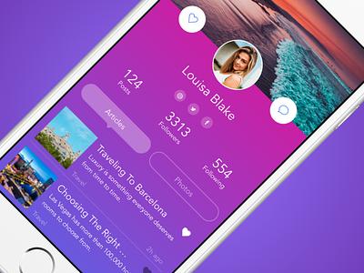 Profile Concept profile android mobile design ios