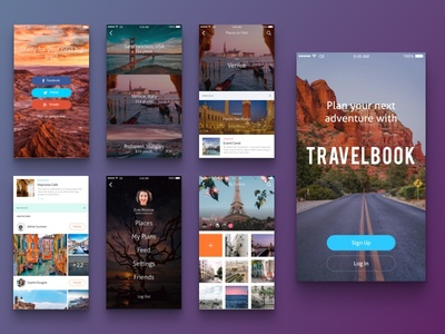 Social Travel App social travel concept android mobile design ios