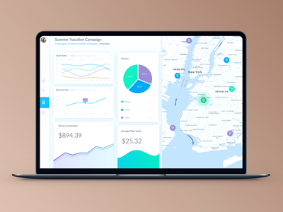 Email Campaign Dashboard app admin ux ui
