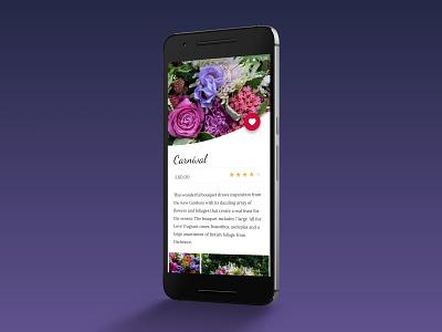 Flower Ordering App ios android mobile design app ux ui
