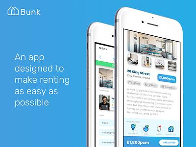 Bunk iOS App app ux ui ios