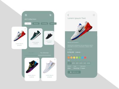 Online Footwear Store App Design Concept