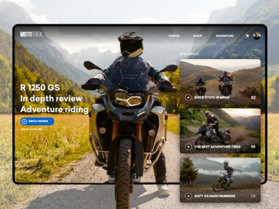 Mototrek website redesign