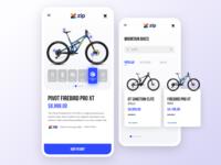 Mountain Bike product screen
