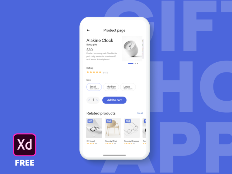 Gifts app product page freebie free download gift adobexd wireframe interface inspiration minimal graphic webdesign ux appdesign uidesign design uxdesignmastery iosinspiration userexperience userinterface interaction ui