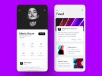 Profile Page Series II iosinspiration interface minimal appdesign uidesign ui inspiration adobexd ux profile page profile
