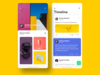 Profile Page Series II iosinspiration product green purple yellow profile interaction interface minimal uidesign ui ux adobexd