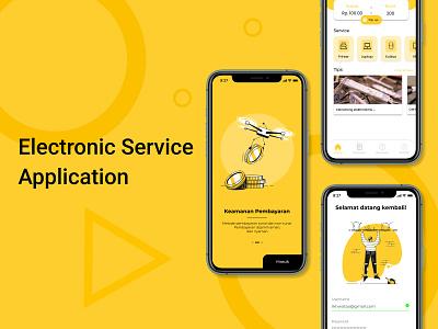 Electronic Service App login home clean app uidesign trending ui mobile app ai service app electronic service mobile ux design ui