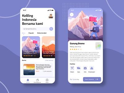 Travel App minimalist purple prototype love uuix travel mobiledesign branding uidesign typography mobileapp illustration ui adobe illustrator ux mobile design