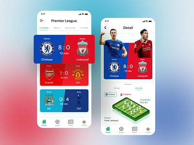 Sport Match App minimal ui colorful app mobile app uiux 2020 ui trends mobile sport 2020 design 2020 trend