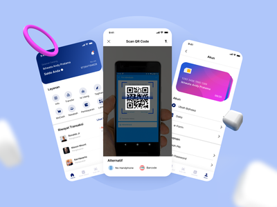 Redesign BRI Mobile qrcode 2020 design illustration 2020 ui trends clean banking mobileapp uidesign design ux ui mobile