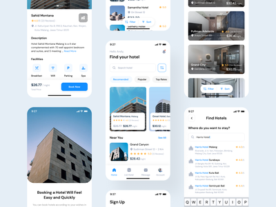 Hotel Booking App - Mobile App travel mobile app trends ux apartment clean phone minimal minimalist mobile apps hotel booking booking hotel uiux ui