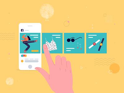 Facebook Carousel Ads graphic design app bannersnack fashion vector social media carousel illustration design templates examples facebook ads facebook article