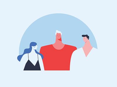 Team clean vector minimal flat graphic design design illustration professionals people colleagues team bannersnack app