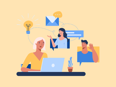 Video Conference social distancing learning meeting video conference covid-19 app design bannersnack vector illustration flat graphic design