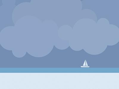 August sea ocean mood august yellow purple design vector clean minimal illustration graphic design flat calendar