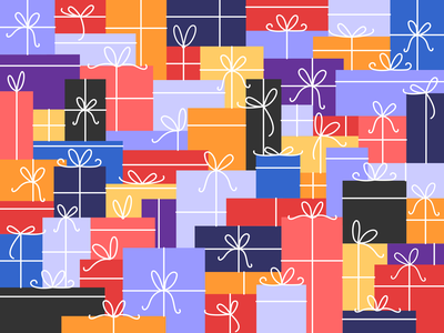 Christmas is coming challenge colorful giving love gift boxes gift box gifts gift christmas mood clean minimal vector illustration flat design graphic design