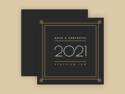 New Year Card 2021 new year template design template black gold elegant greeting card app bannersnack clean design minimal flat graphic design