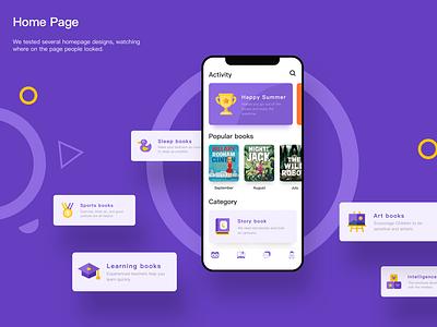 OwlBooks APP-Home Page Design app design