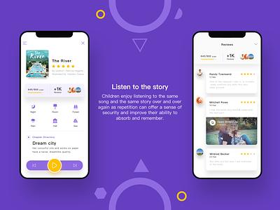 OwlBooks APP-Listen to the story branding logo graphic design ui