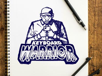 Keyboard Warrior graphic design branding design branding logos logodesign sports branding sports design sports logo sportswear sports logo design illustrated logo logo basketball nba durant kd kevin durant kevin