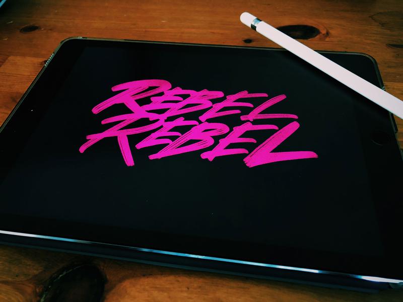 Rebel Rebel type art type typographic hand drawn typography hand drawn type hand drawn custom type custom typography typography design typography art hand lettering logo lettering art hand lettering hand lettered lettering challenge typography lettering