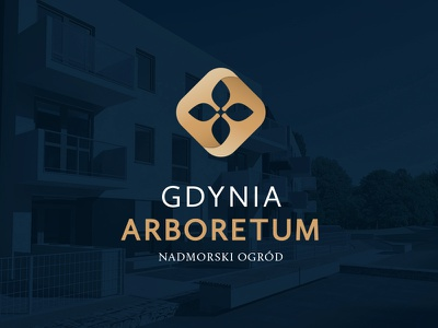 Gdynia Arboretum flower garden logo housing