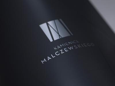 Kamienice Malczewskiego logotype cover brochure