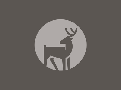 Deer animal logo deer