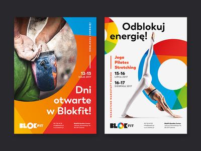 BlokFit colorful circle poster bouldering