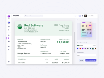Invoice Design web app invoice template invoice design invoice app design ux ui product design