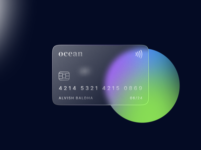 Glass Card logo gradient concept art card design credit card card glass effect glass glossy graphic design branding ui  ux ux ui banking