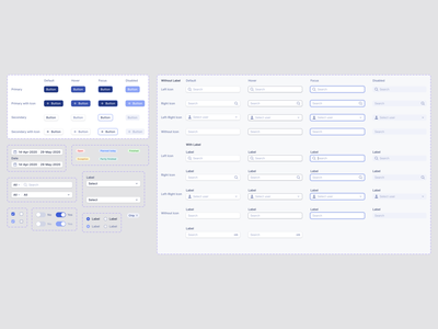  Components search bar chips toggle switch checkbox radio button dropdown components buttons input fields design system typography ux ui product design design