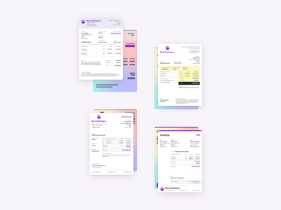 Invoice templates invoicing a4 gradients template design invoice template invoice design invoice typography product design design ux ui
